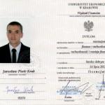 dyplom Jarosław Kruk